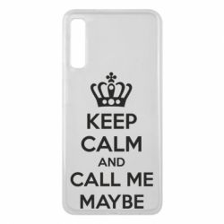 Чехол для Samsung A7 2018 KEEP CALM and CALL ME MAYBE