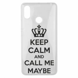 Чехол для Xiaomi Mi Max 3 KEEP CALM and CALL ME MAYBE