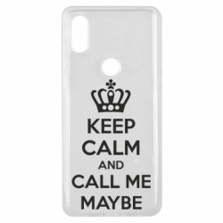 Чехол для Xiaomi Mi Mix 3 KEEP CALM and CALL ME MAYBE