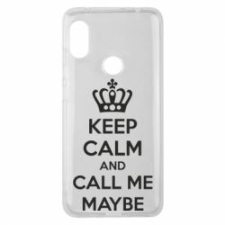 Чехол для Xiaomi Redmi Note 6 Pro KEEP CALM and CALL ME MAYBE - FatLine