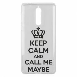 Чехол для Nokia 8 KEEP CALM and CALL ME MAYBE - FatLine