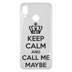 Чехол для Huawei P Smart Plus KEEP CALM and CALL ME MAYBE - FatLine