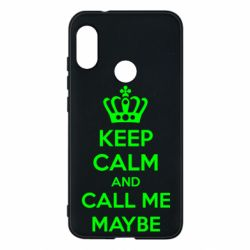 Чехол для Mi A2 Lite KEEP CALM and CALL ME MAYBE - FatLine