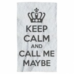 Полотенце KEEP CALM and CALL ME MAYBE