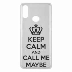 Чехол для Samsung A10s KEEP CALM and CALL ME MAYBE
