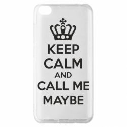 Чехол для Xiaomi Redmi Go KEEP CALM and CALL ME MAYBE