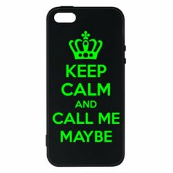 Чехол для iPhone5/5S/SE KEEP CALM and CALL ME MAYBE