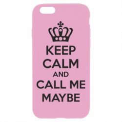 Чехол для iPhone 6 Plus/6S Plus KEEP CALM and CALL ME MAYBE
