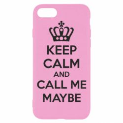 Чехол для iPhone 8 KEEP CALM and CALL ME MAYBE