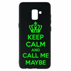 Чехол для Samsung A8+ 2018 KEEP CALM and CALL ME MAYBE