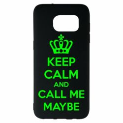 Чехол для Samsung S7 EDGE KEEP CALM and CALL ME MAYBE