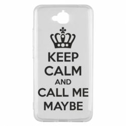 Чехол для Huawei Y6 Pro KEEP CALM and CALL ME MAYBE - FatLine