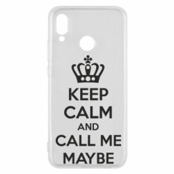 Чехол для Huawei P20 Lite KEEP CALM and CALL ME MAYBE - FatLine