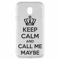 Чехол для Samsung J3 2017 KEEP CALM and CALL ME MAYBE