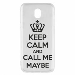Чехол для Samsung J5 2017 KEEP CALM and CALL ME MAYBE