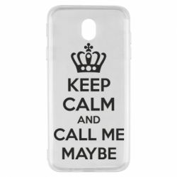 Чехол для Samsung J7 2017 KEEP CALM and CALL ME MAYBE