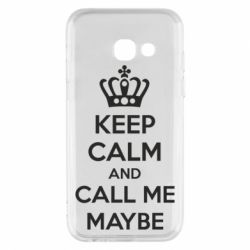 Чехол для Samsung A3 2017 KEEP CALM and CALL ME MAYBE