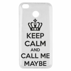 Чехол для Xiaomi Redmi 4x KEEP CALM and CALL ME MAYBE - FatLine