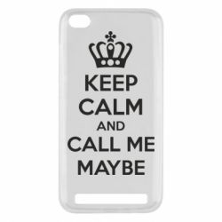 Чехол для Xiaomi Redmi 5a KEEP CALM and CALL ME MAYBE - FatLine