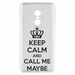 Чехол для Xiaomi Redmi Note 4 KEEP CALM and CALL ME MAYBE