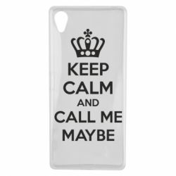 Чехол для Sony Xperia X KEEP CALM and CALL ME MAYBE - FatLine