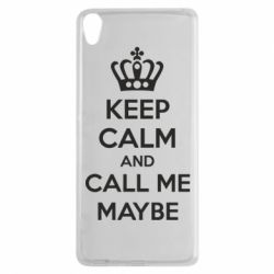 Чехол для Sony Xperia XA KEEP CALM and CALL ME MAYBE - FatLine