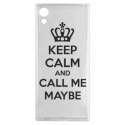 Чехол для Sony Xperia XA1 KEEP CALM and CALL ME MAYBE - FatLine