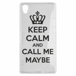 Чехол для Sony Xperia Z1 KEEP CALM and CALL ME MAYBE - FatLine