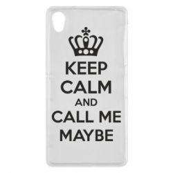 Чехол для Sony Xperia Z2 KEEP CALM and CALL ME MAYBE - FatLine