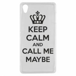 Чехол для Sony Xperia Z3 KEEP CALM and CALL ME MAYBE - FatLine