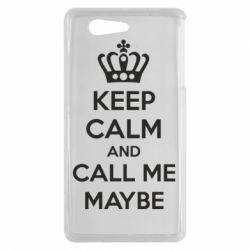 Чехол для Sony Xperia Z3 mini KEEP CALM and CALL ME MAYBE - FatLine