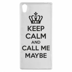 Чехол для Sony Xperia Z5 KEEP CALM and CALL ME MAYBE - FatLine