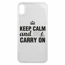 Чохол для iPhone Xs Max Keep calm and carry on text