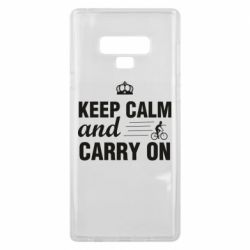 Чохол для Samsung Note 9 Keep calm and carry on text