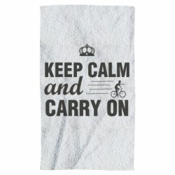 Рушник Keep calm and carry on text