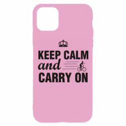 Чохол для iPhone 11 Pro Keep calm and carry on text