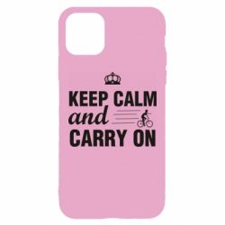 Чохол для iPhone 11 Pro Max Keep calm and carry on text