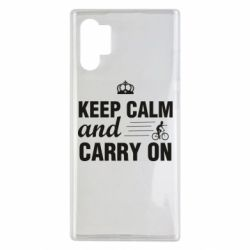Чохол для Samsung Note 10 Plus Keep calm and carry on text