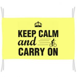 Прапор Keep calm and carry on text
