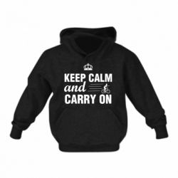 Дитяча толстовка Keep calm and carry on text