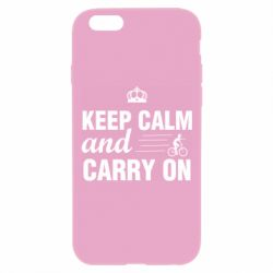 Чохол для iPhone 6 Plus/6S Plus Keep calm and carry on text