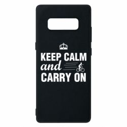 Чохол для Samsung Note 8 Keep calm and carry on text