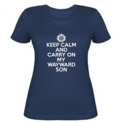 Женская футболка Keep Calm and carry on