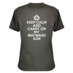 Камуфляжная футболка Keep Calm and carry on
