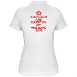 Женская футболка поло Keep Calm and carry on