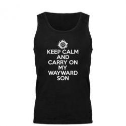Мужская майка Keep Calm and carry on