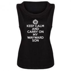 Женская майка Keep Calm and carry on