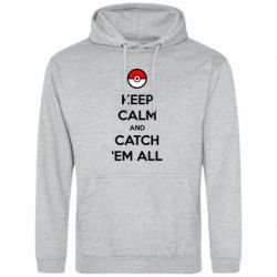 Мужская толстовка Keep Calm and Catch 'em all! - FatLine