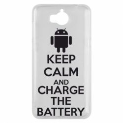 Чехол для Huawei Y5 2017 KEEP CALM and CHARGE BATTERY - FatLine