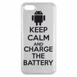 Чехол для Huawei Y5 2018 KEEP CALM and CHARGE BATTERY - FatLine